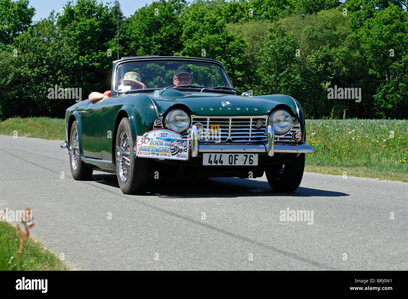 Triumph Tr4 1963 In The Tour De Bretagne Classic Car Rally 2010
