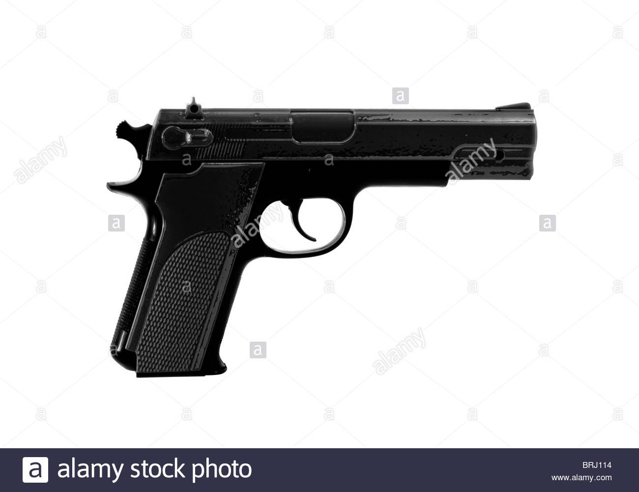 hand gun - Stock Image
