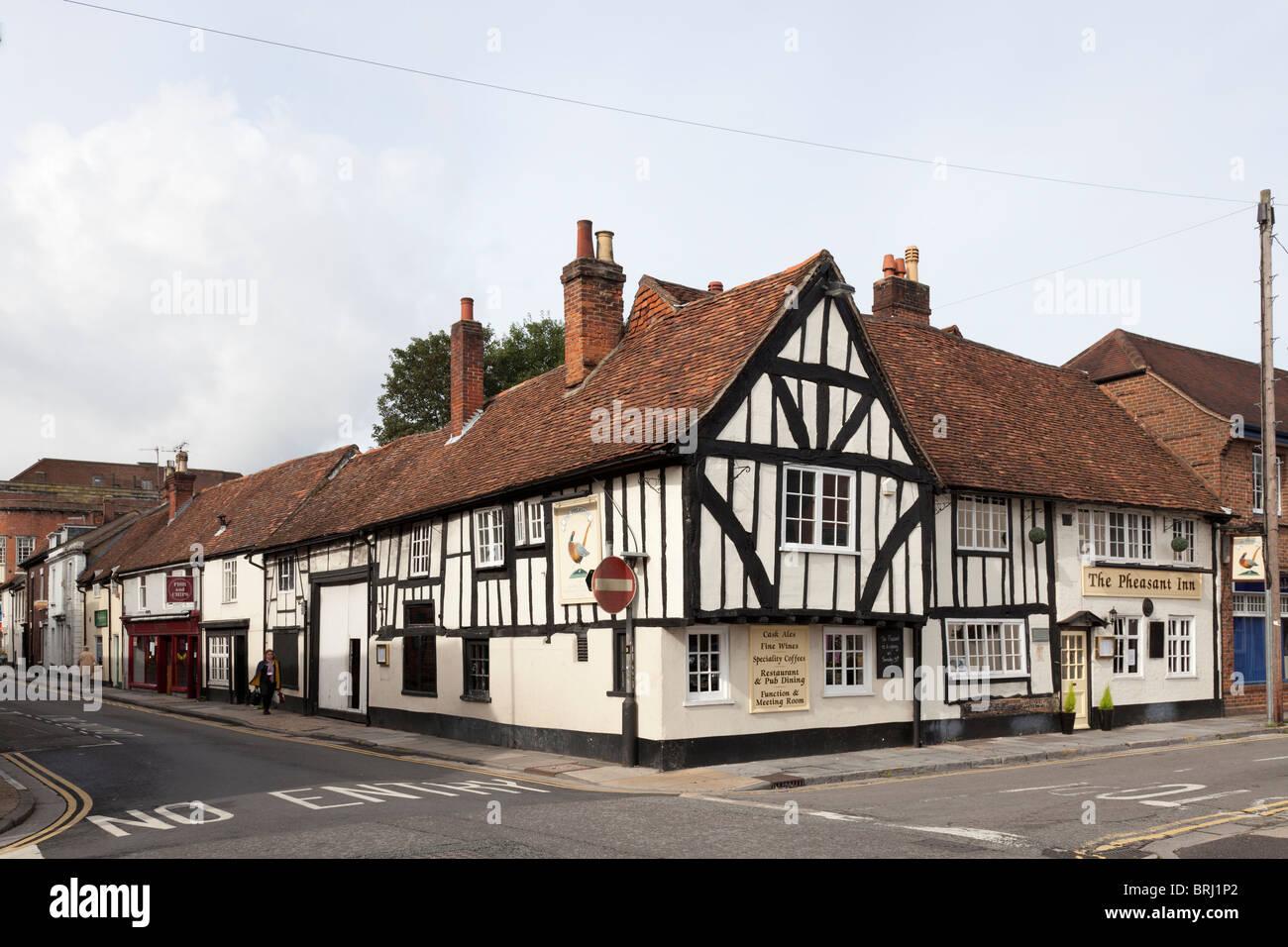 The Pheasent Inn, 16th Century pub in Salisbury - Stock Image