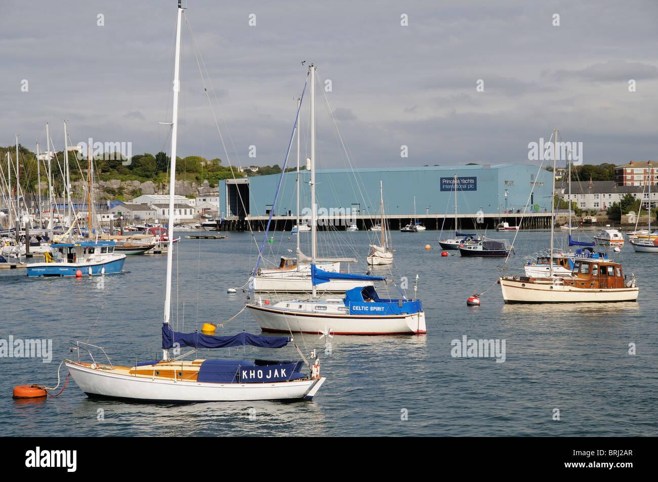 Princess Yachts International company premises on River Tamar South Devon  England UK 383edf214