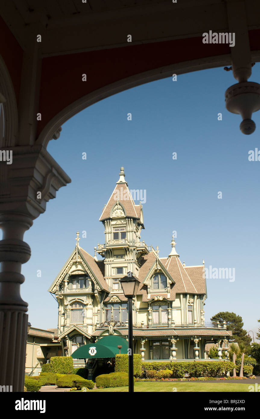 Carson Mansion in Eureka Northern California USA - Stock Image
