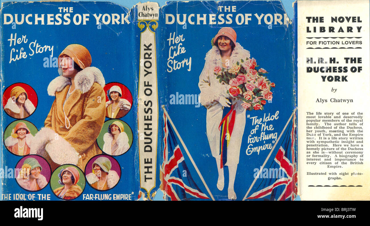 Dust Jacket for The Duchess of York, Her Life Story by Alys Chatwyn - Stock Image