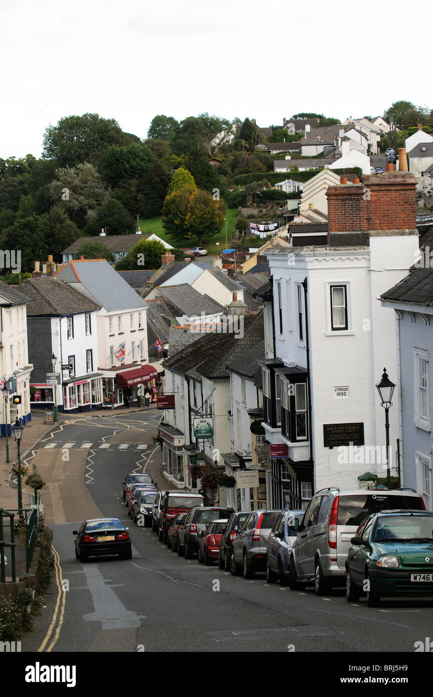 Modbury a small town in the South Hams region of South Devon England UK - Stock Image