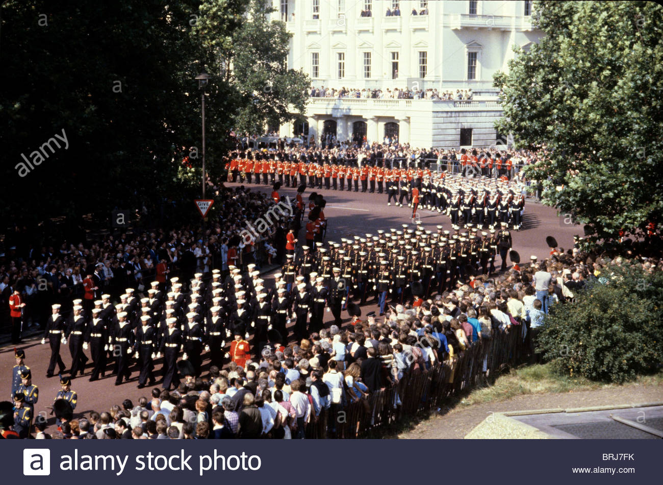 FUNERAL OF LORD MOUNTBATTEN LONDON BRITAIN 1979 - Stock Image