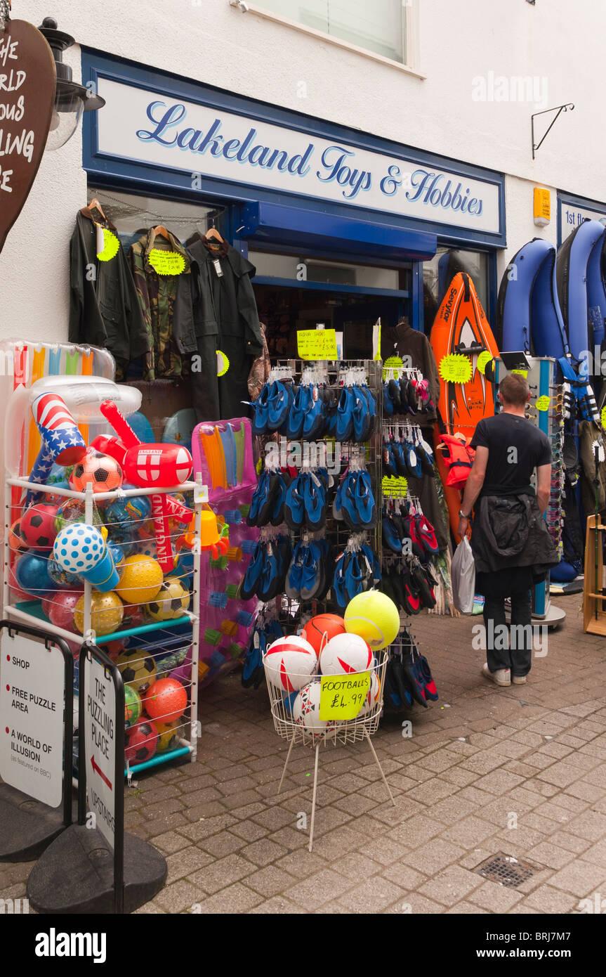 The Lakeland Toys & Hobbies shop store at Keswick , Cumbria , England , Great Britain , Uk - Stock Image
