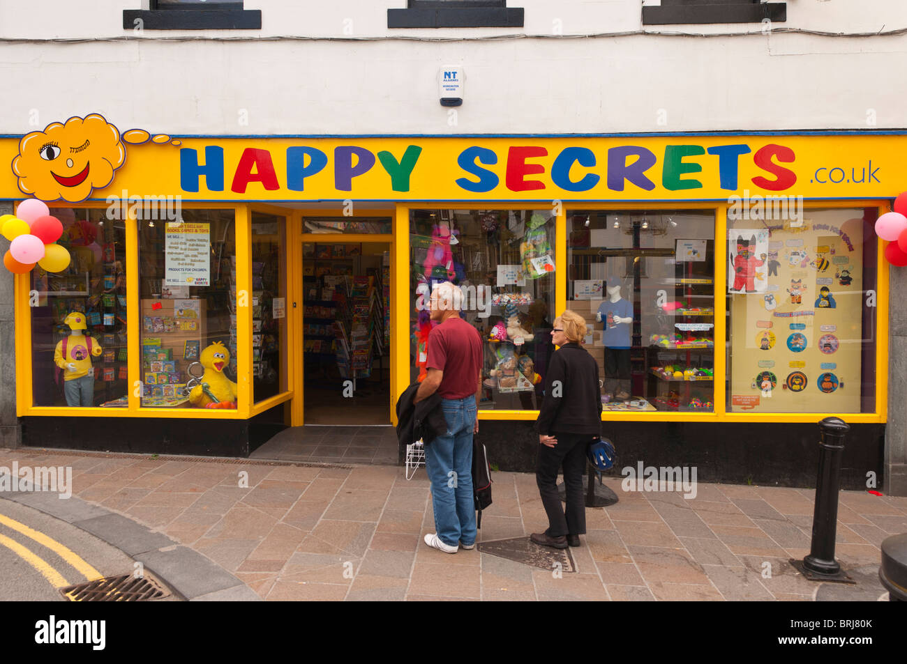 The Happy Secrets toy and book shop store at Keswick , Cumbria , England , Great Britain , Uk - Stock Image