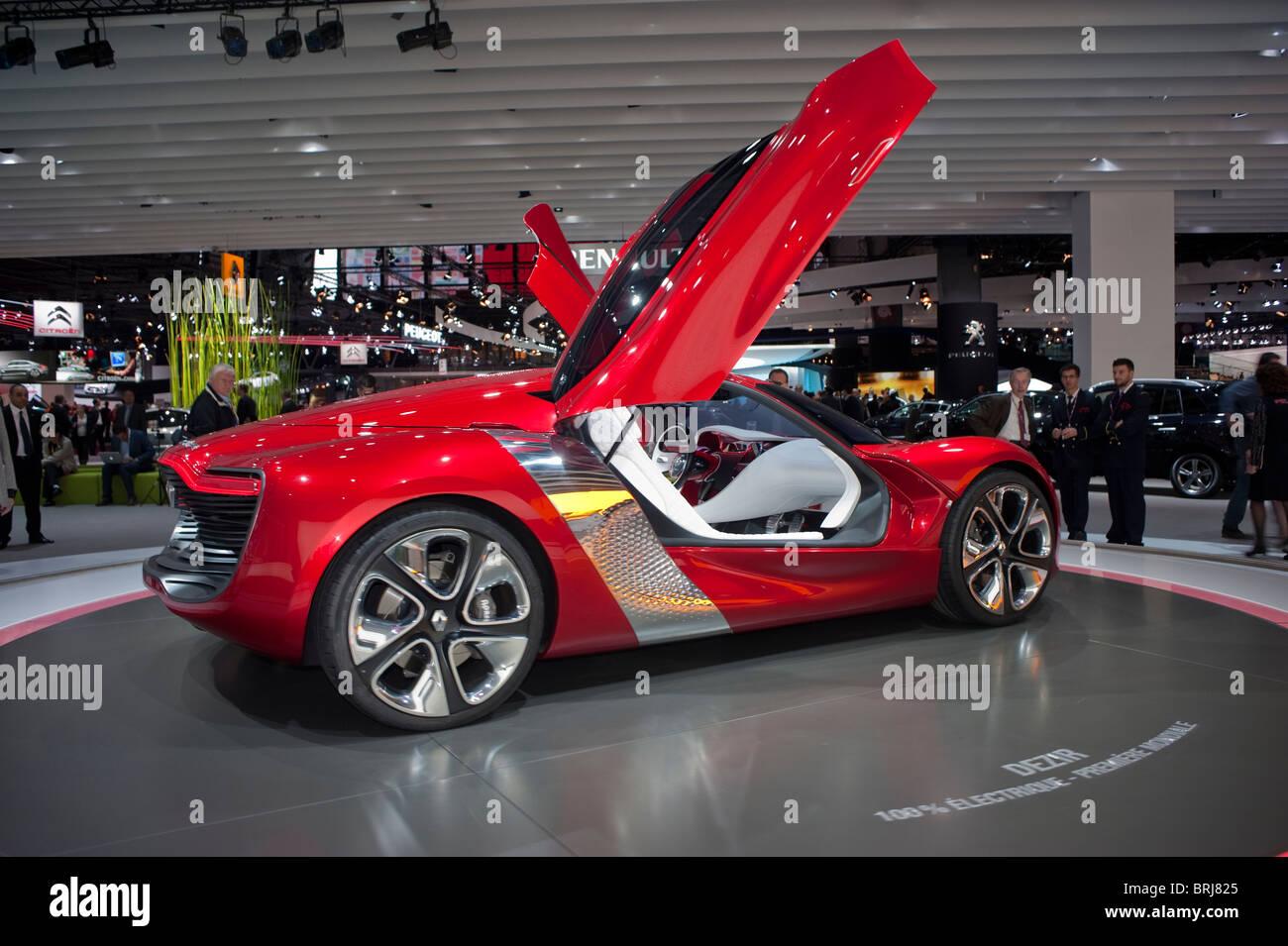 Paris, France, Paris Car Show, Renault Concept Car, Electric Cars ...