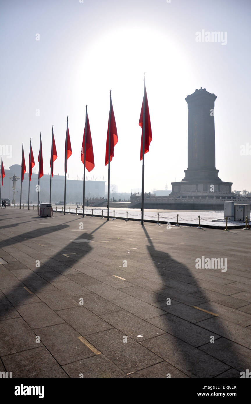 Daylight over Tienanmen Square in Beijing, China - Stock Image
