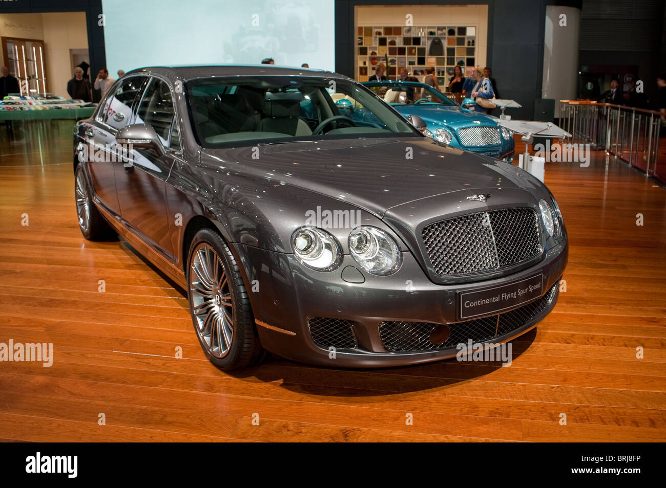 Paris France Paris Car Show Bentley Luxury Sedans Continental Stock Photo Alamy