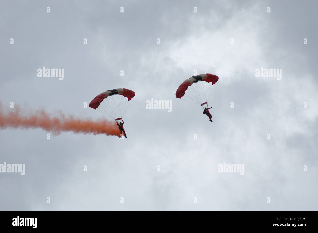 Red Devils Parachuting Team - Stock Image