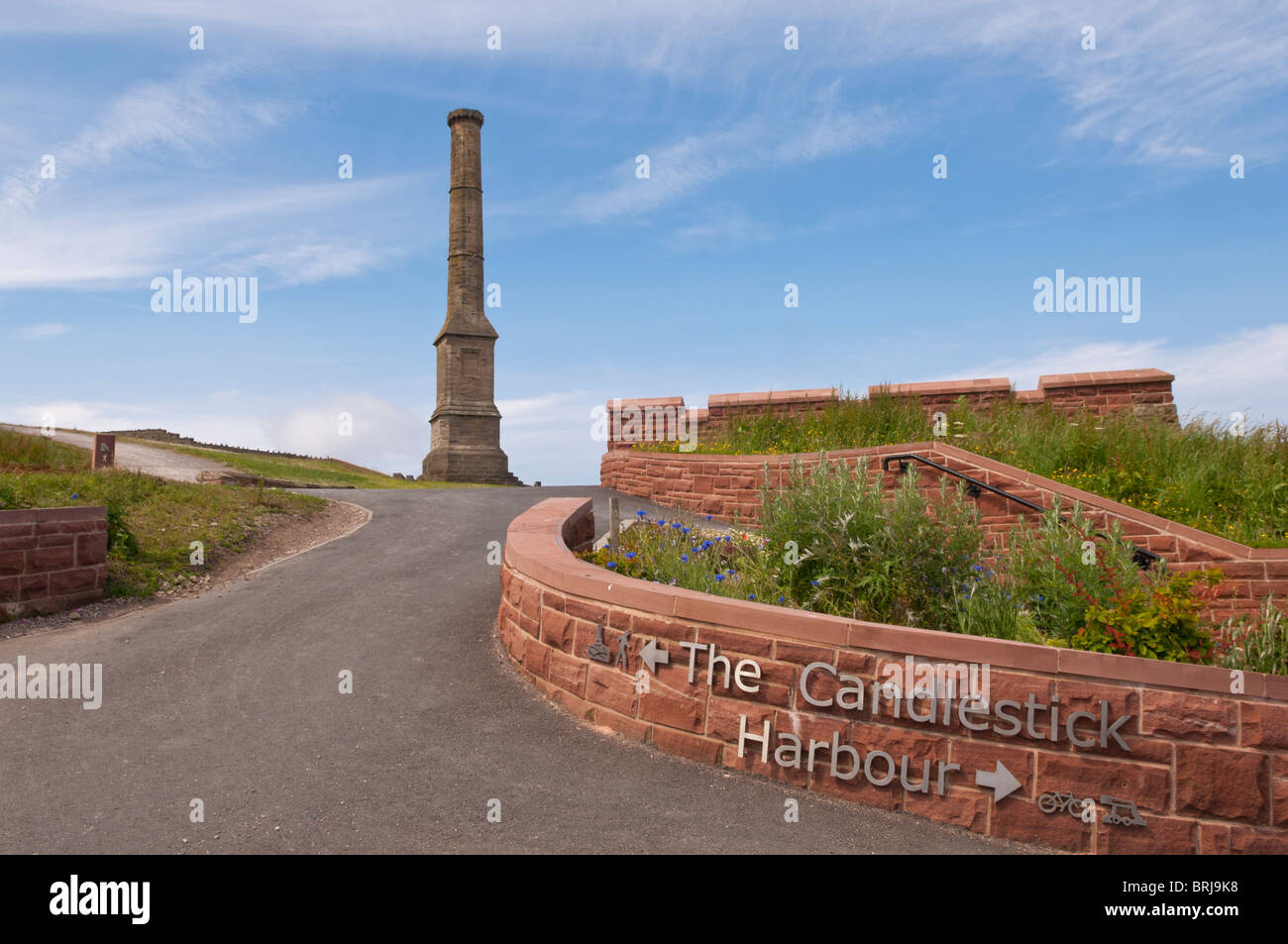 The Candlestick at Whitehaven marina and harbour on the west coast of Cumbria , England , Great britain , Uk - Stock Image