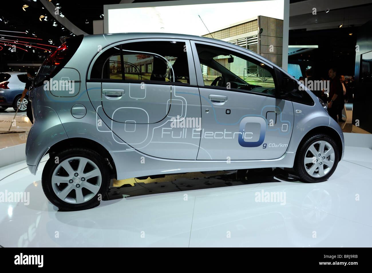 Peugeot,Electric car, zero emission, Paris Motor Show, France Stock ...