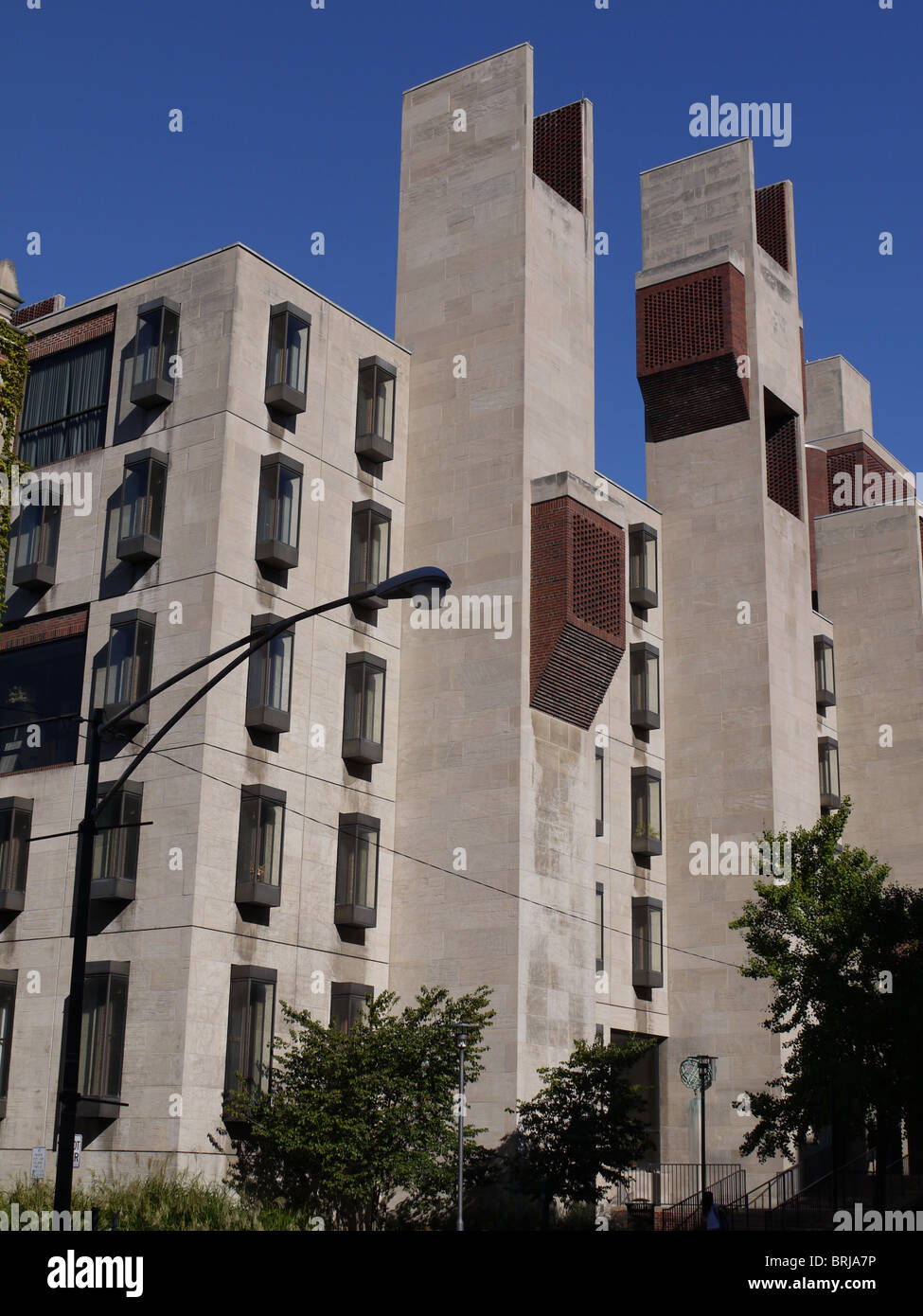 University of Chicago Modern Building Exterior - Stock Image