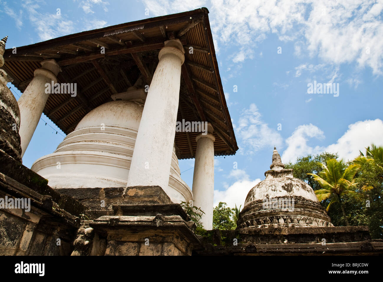 Gadaladeniya Temple on the Kandy 'Temple Loop' is a great way to sample the lovely rural surroundings of - Stock Image
