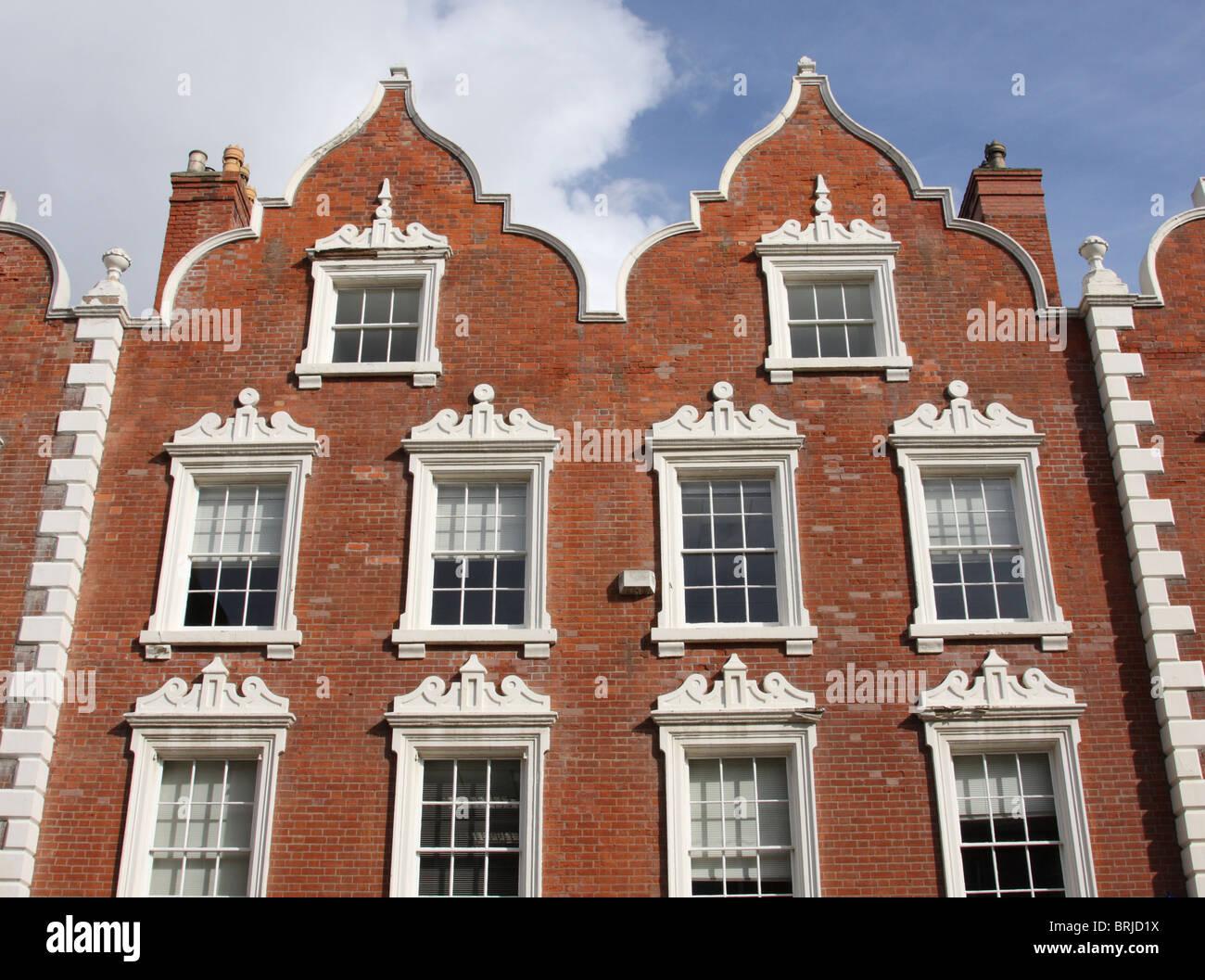 An elegant townhouse exterior. - Stock Image
