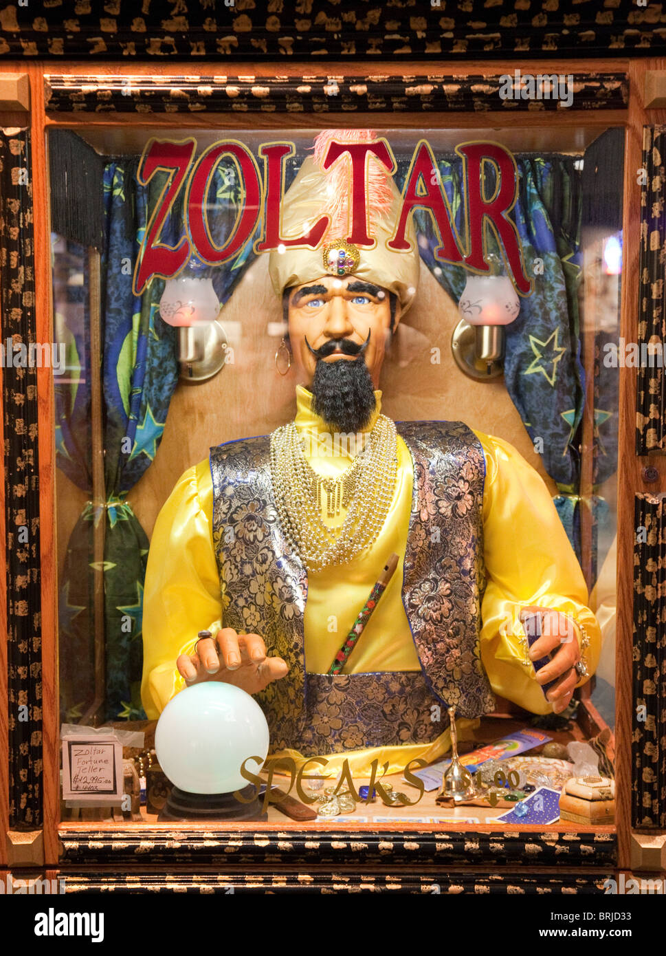 Close up of a Zoltar fortune telling machine in the Forum shops, Caesars  Palace Hotel