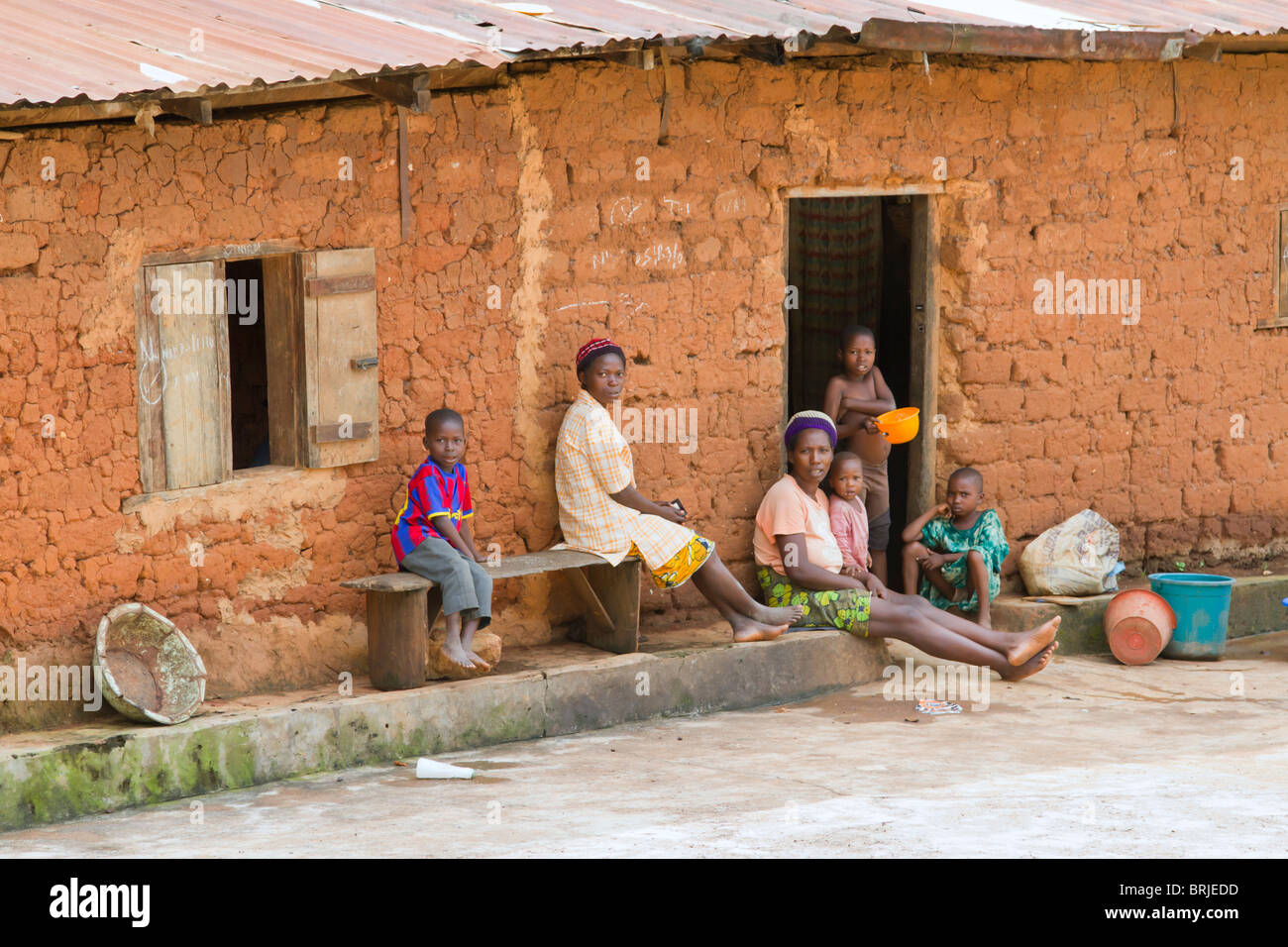 Peasons in a remote village of Ondo state, Nigeria. - Stock Image