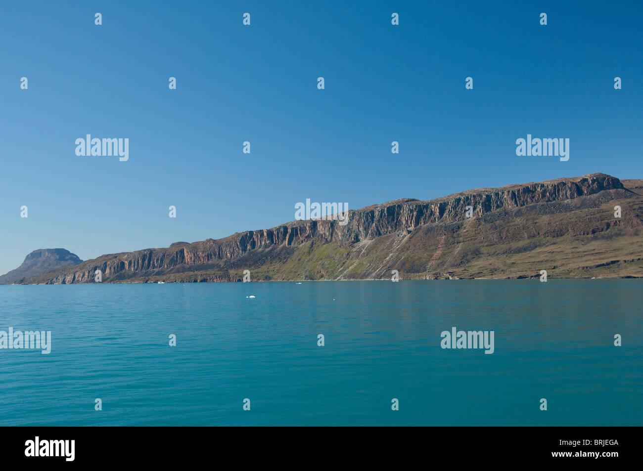 Greenland, Erik's Fjord (aka Eriksfjord). Scenic Greenlandic fjord between Qaqortoq and Narsarsuaq. - Stock Image