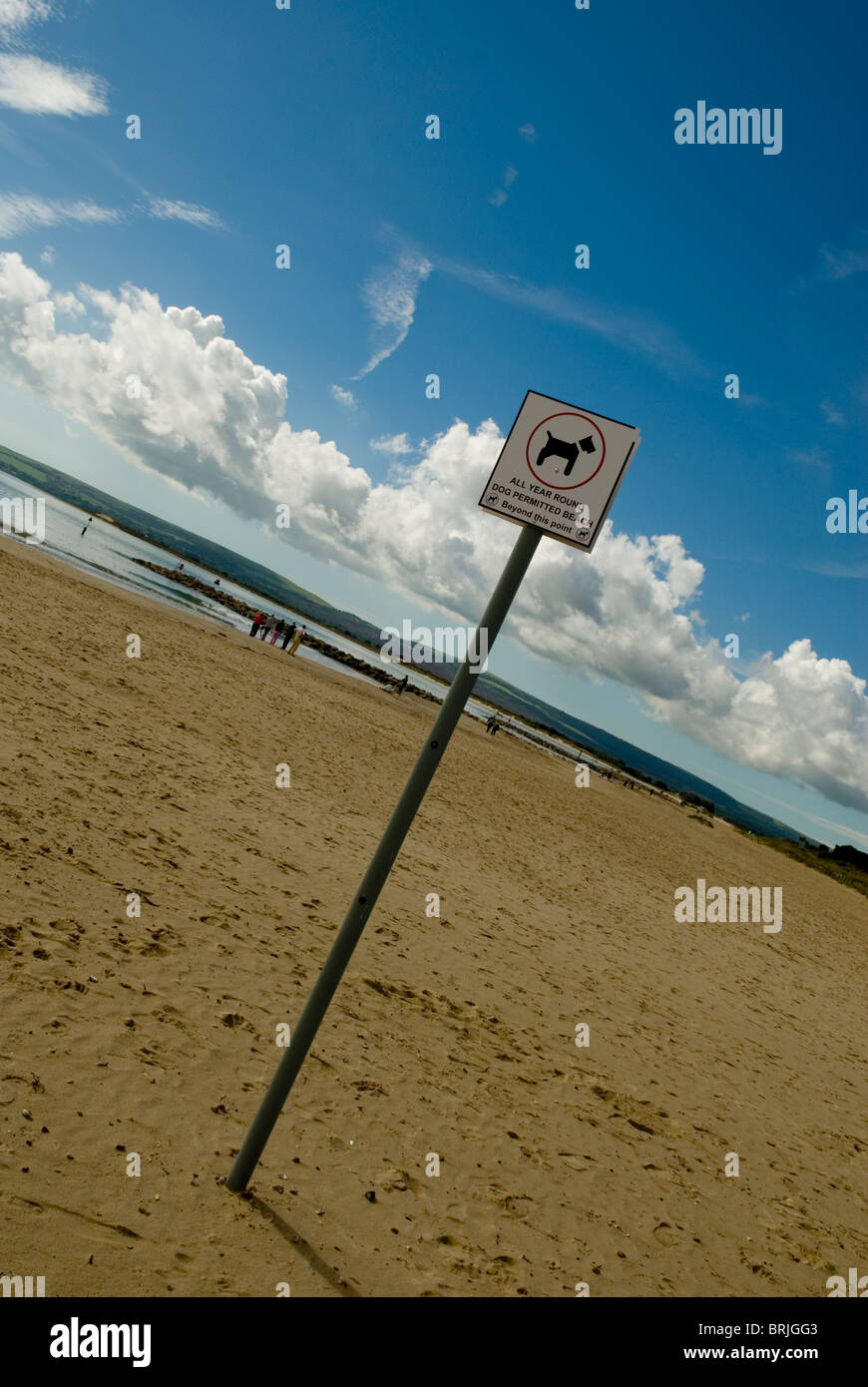 Dog restriction sign - Stock Image