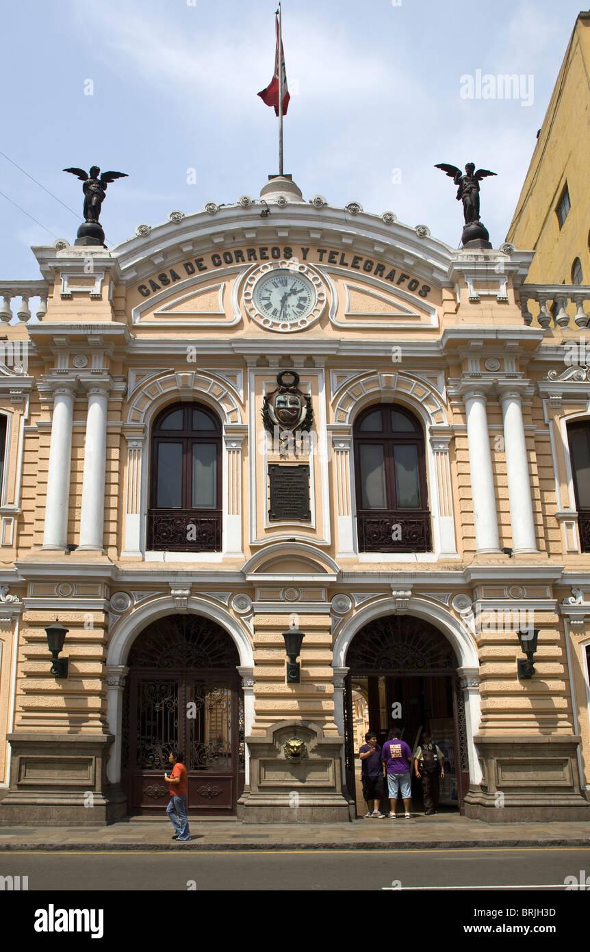 Casa de correos y telegrafos old post office lima peru Casa del correo