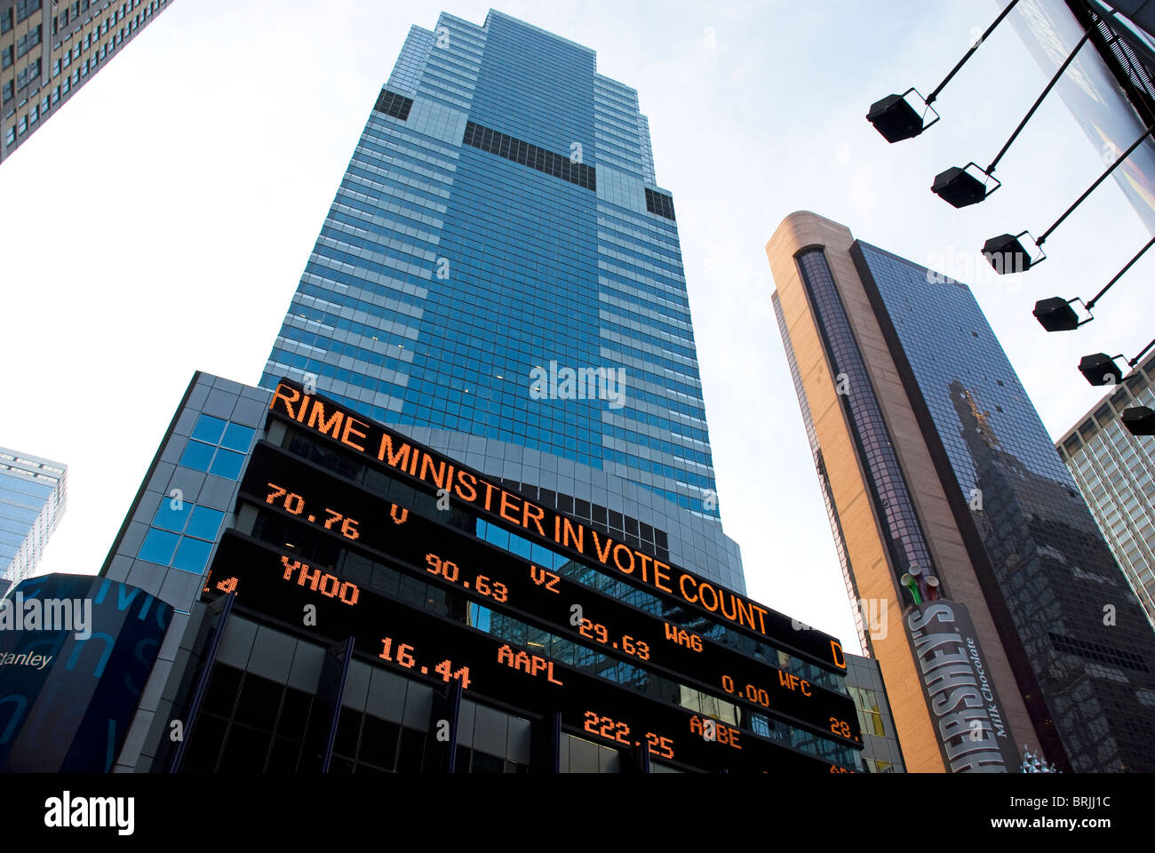 Nasdaq Quotes | Continuous Scrolling Stock Exchange Quotes In Front Of Nasdaq Stock