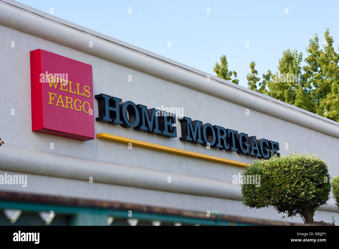 Wells Fargo Home Mortgage office - Stock Image