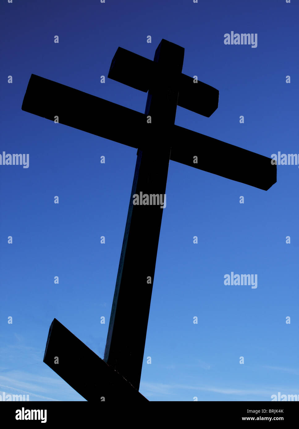 cross against the sky - Stock Image