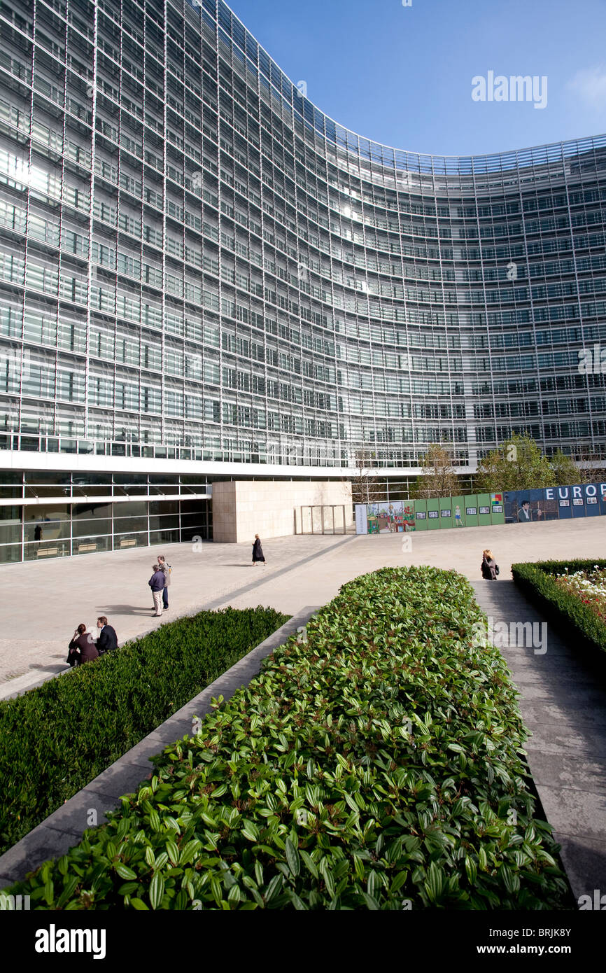 The Charlemagne Building, Berlaymont,  European Commission, Brussels, Belgium. Photo:Jeff Gilbert - Stock Image