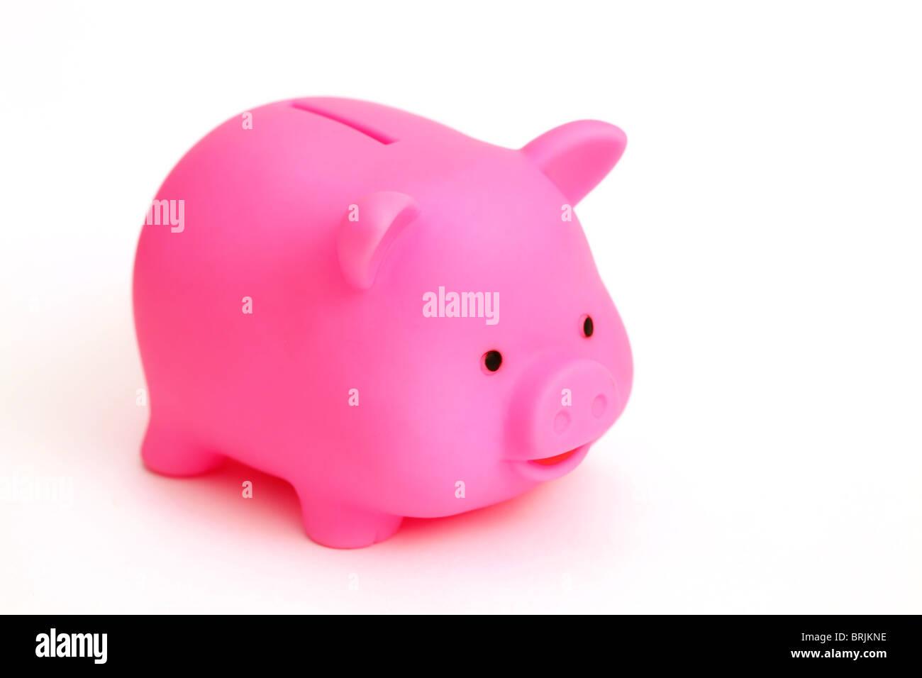 Pink Piggy Bank - Stock Image