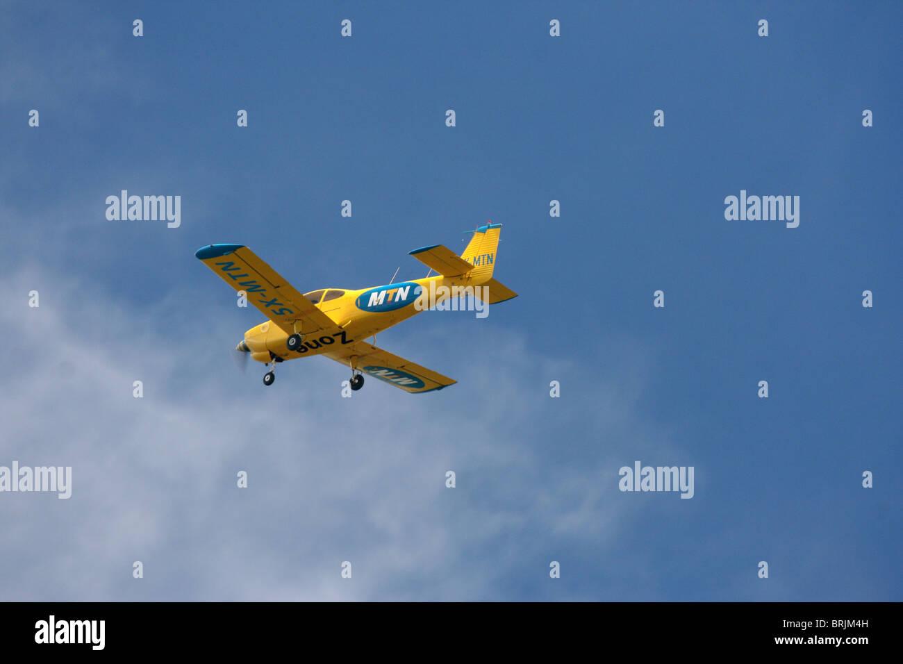 A Fuji FA200 Aero Subaru single engine aerobatic plane - Stock Image