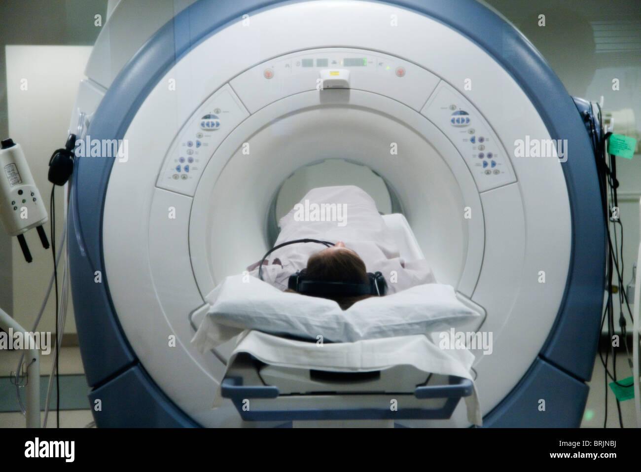 Patient undergoing MRI scan - Stock Image