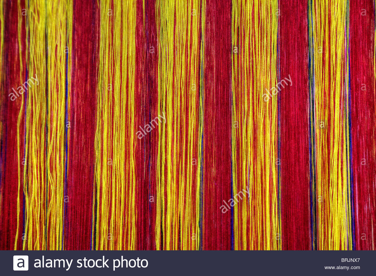 Textiles are considered to be the premier creative art form of Bhutan. - Stock Image