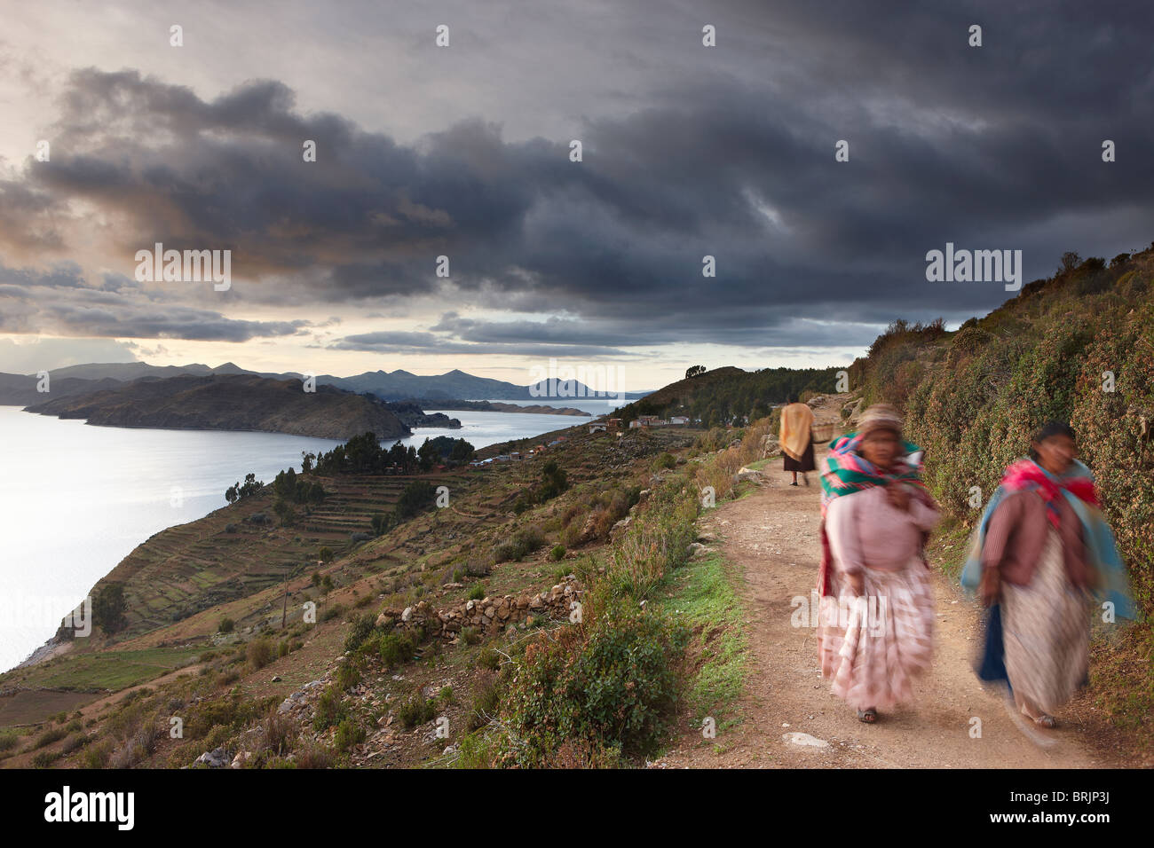 Isla del Sol, Lake Titicaca, Bolivia - Stock Image