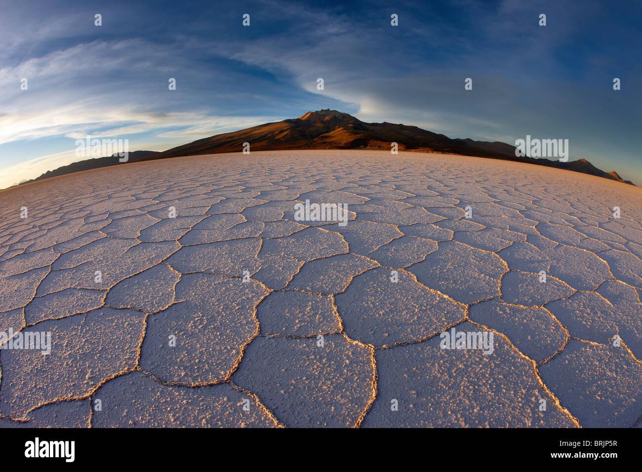 the Salar de Uyuni, Bolivia - Stock Image