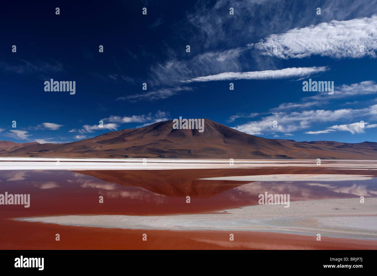 Laguna Colorada, Eduardo Avaroa Andean Fauna National Reserve, Bolivia - Stock Image