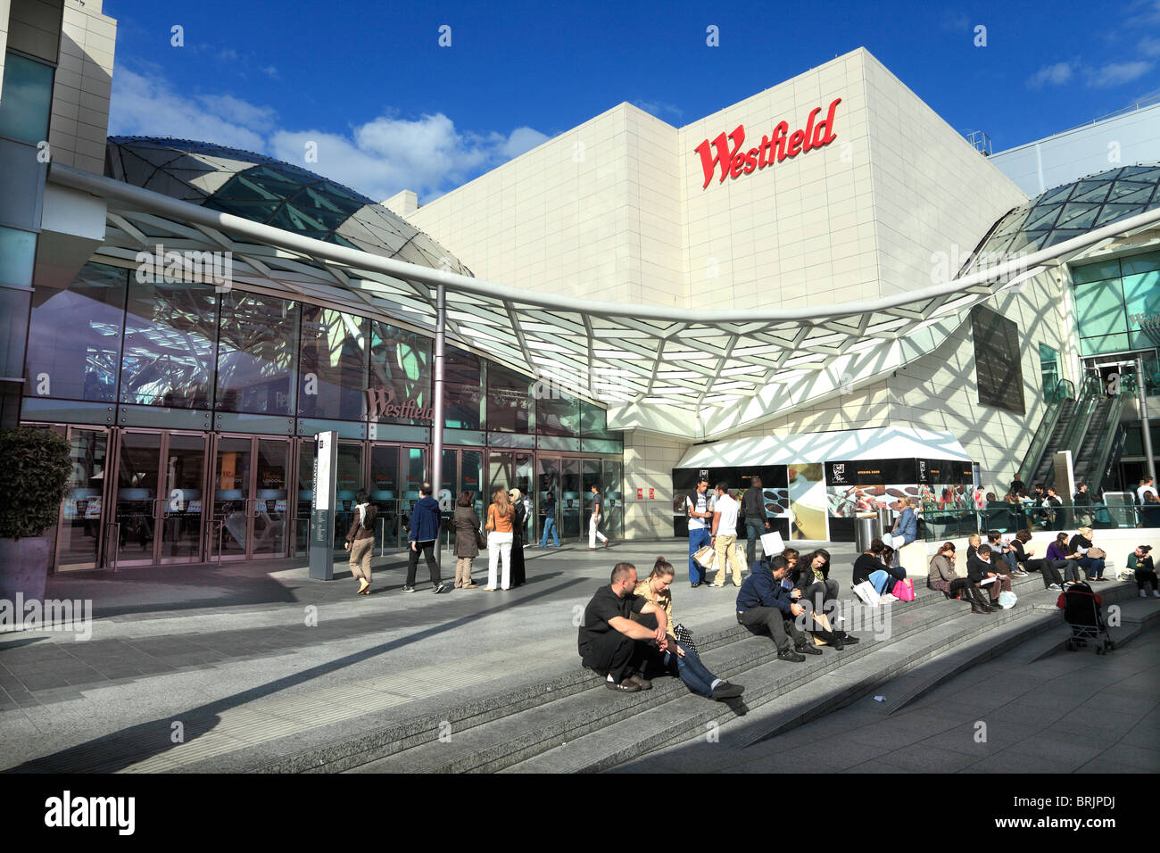 Westfield shopping centre in London - Stock Image