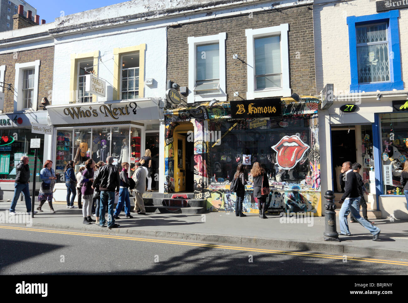 Shopping in Notting Hill Gate London Stock Photo