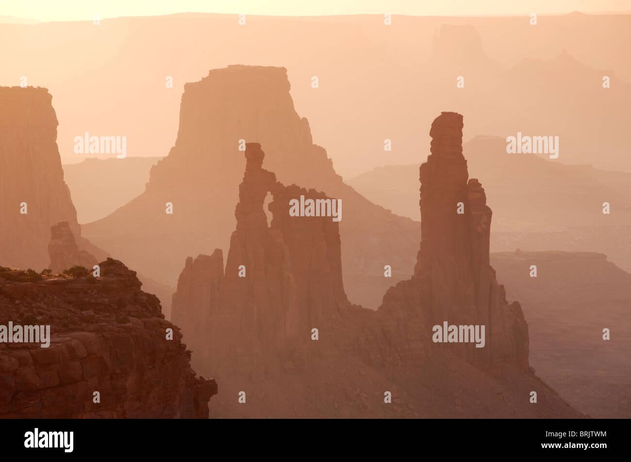 Sunrise in Canyonlands National Park, Utah. - Stock Image