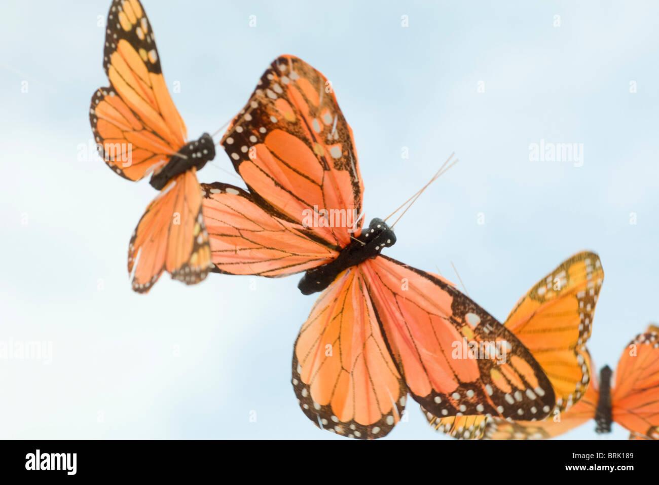 Artificial butterflies Stock Photo