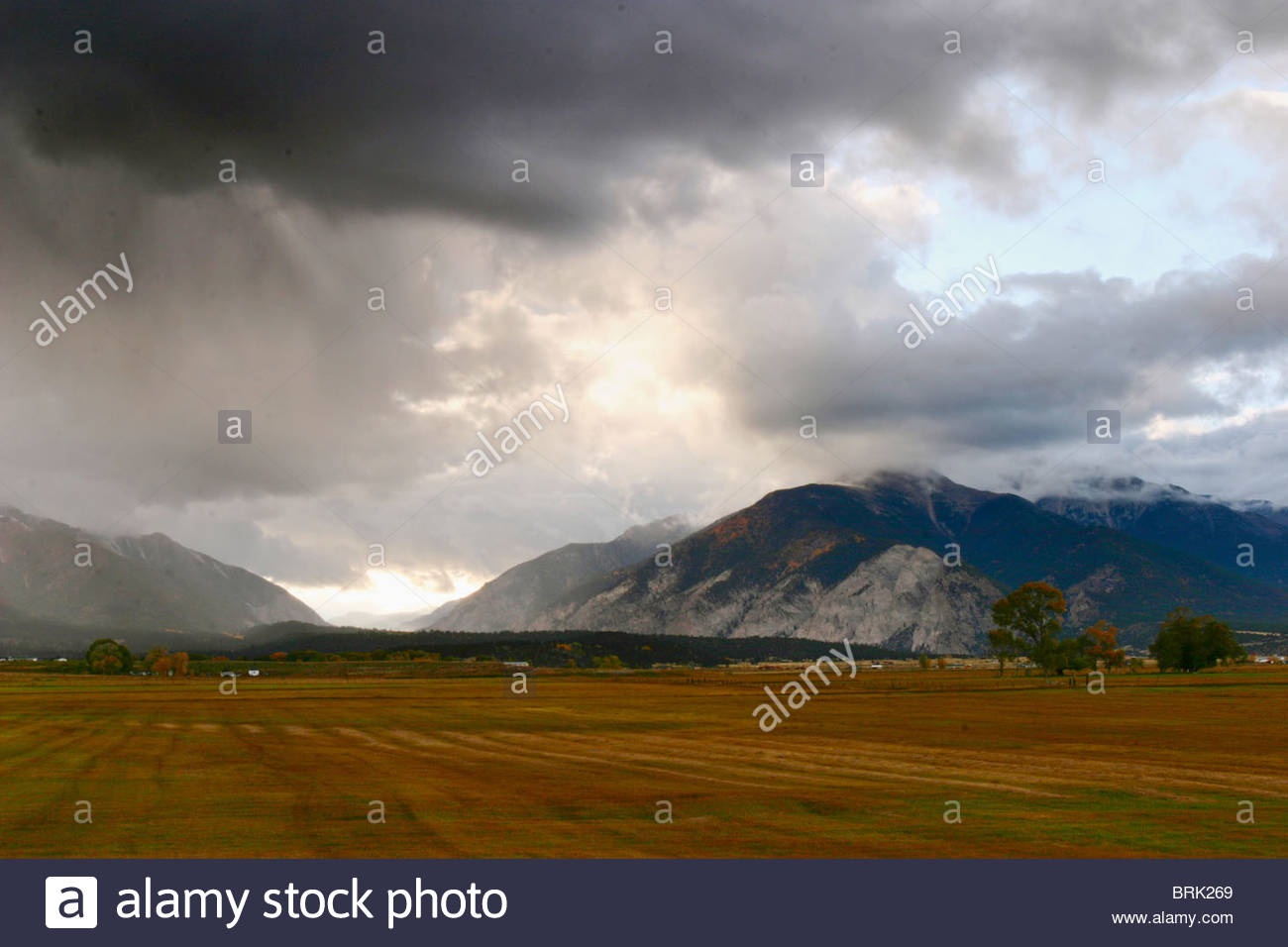 A storm builds in the Colorado high country. - Stock Image