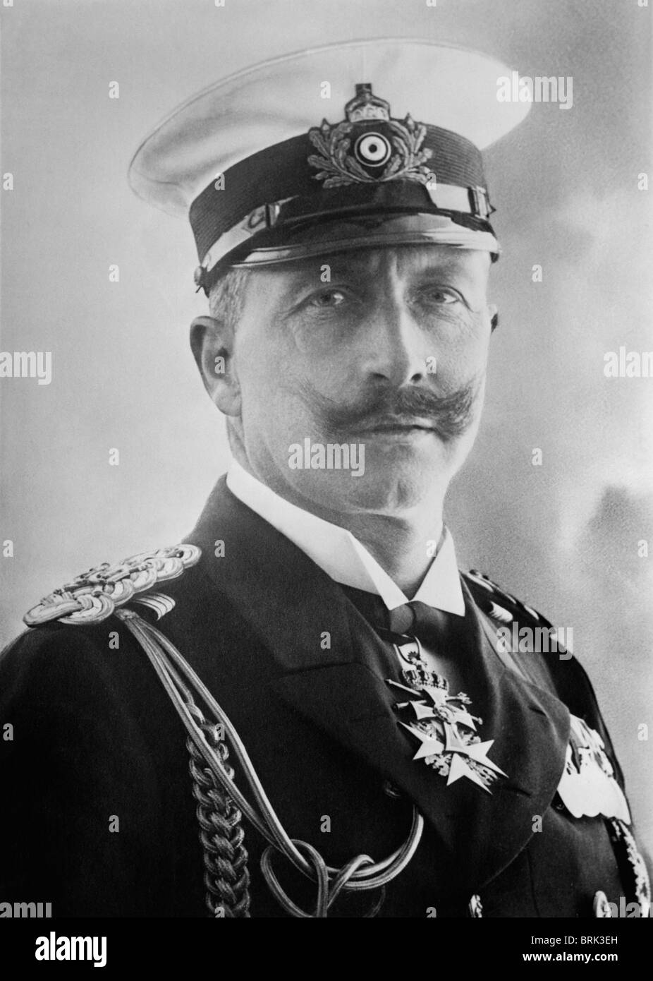 Portrait photo circa 1900 of Kaiser Wilhelm II (1859 - 1941) - the last German Emperor and King of Prussia (1888 - Stock Image