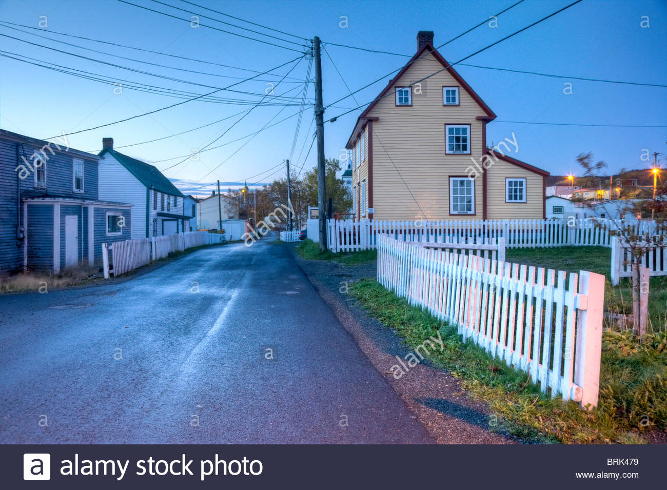 Architecture in one of the oldest communities in North America. - Stock Image