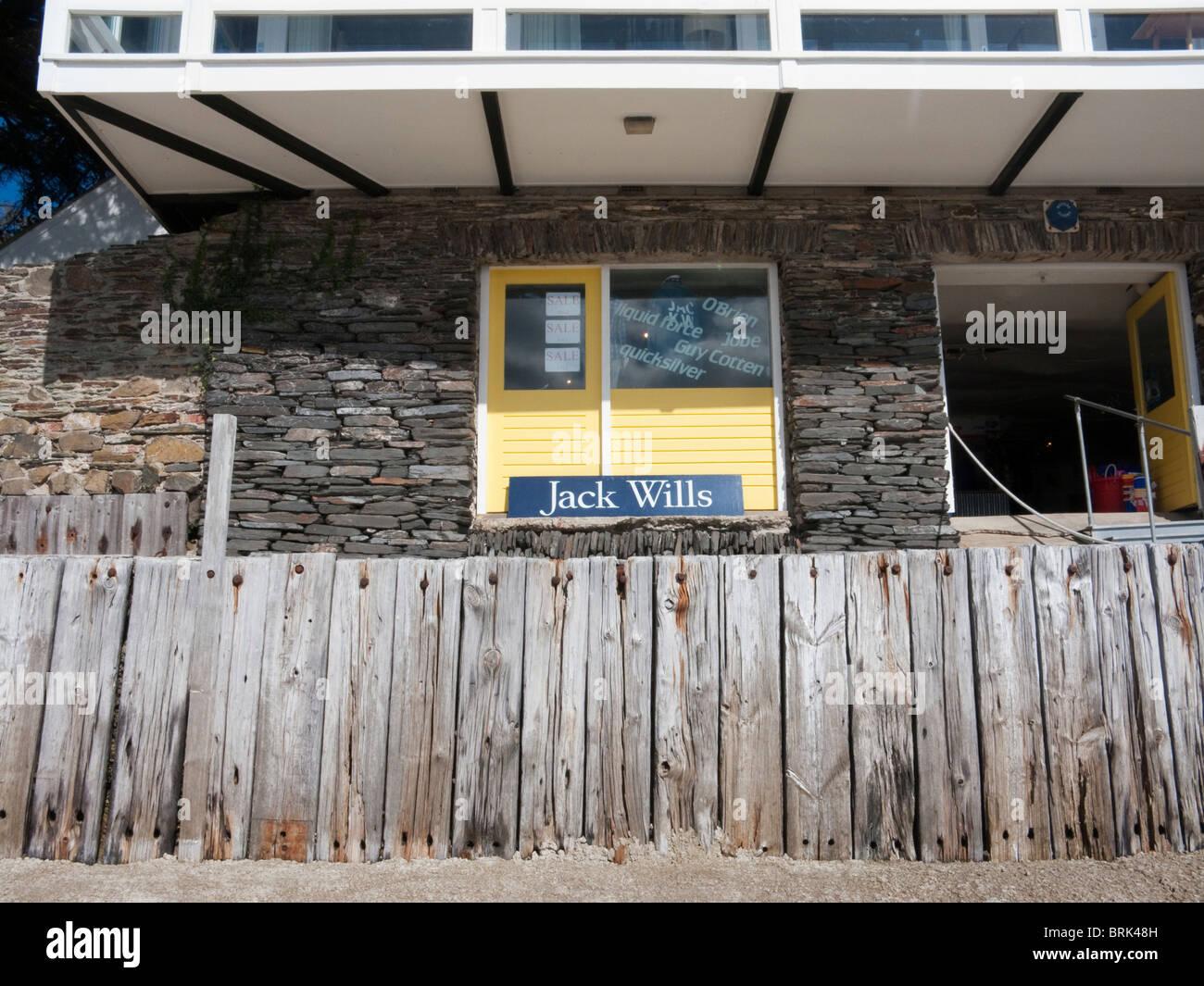 Temporary Jack Wills shop in Rock, Cornwall, UK - Stock Image