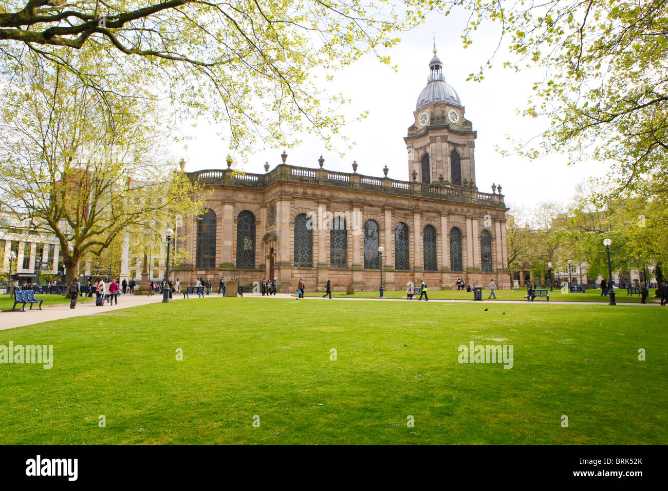 St Phillips Anglican Cathedral, off Colmore Row, Birmingham, West Midlands, England, UK - Stock Image