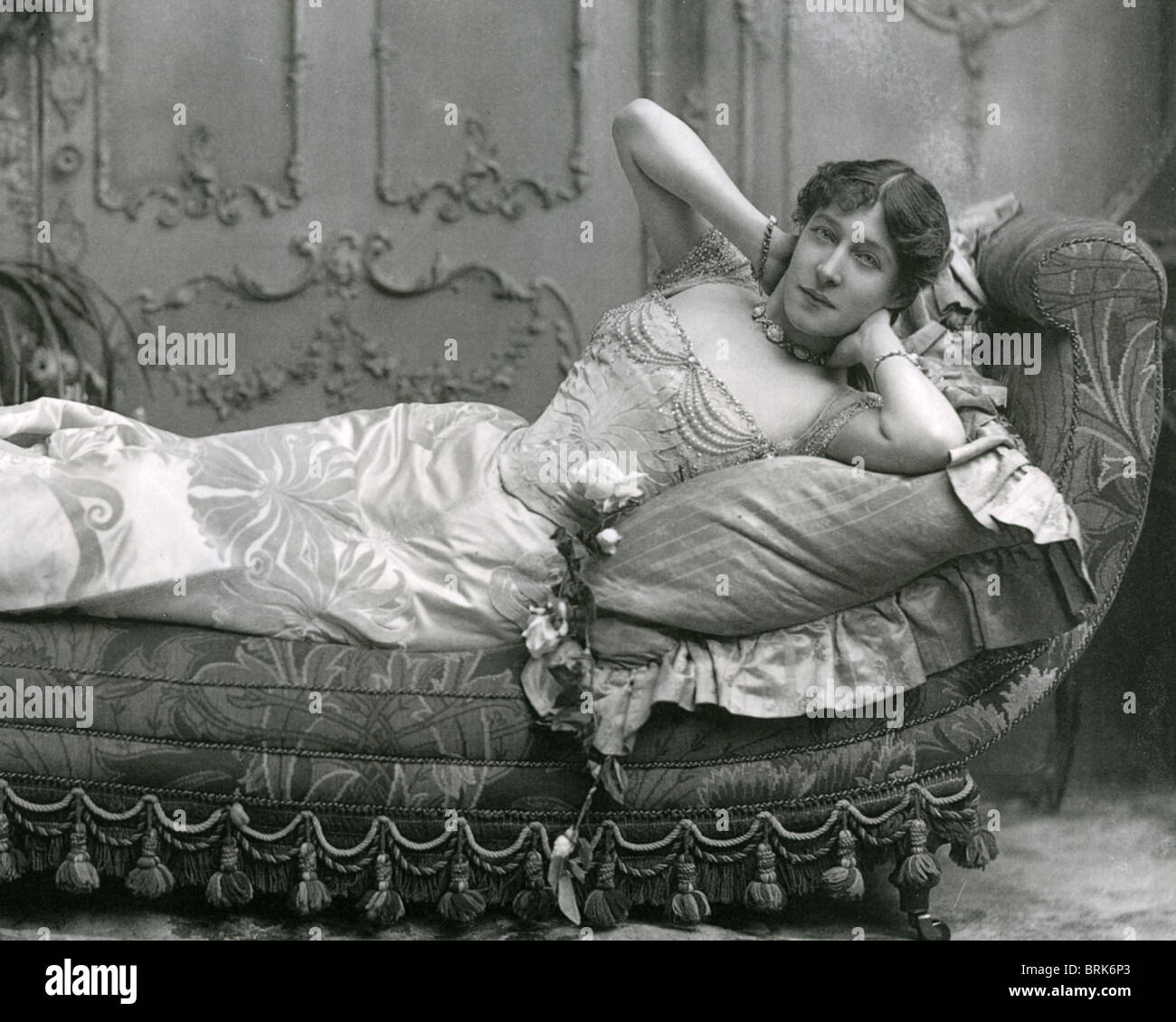 LILY LANGTRY (1853-1929)  English actress and mistress of King Edward VII - Stock Image