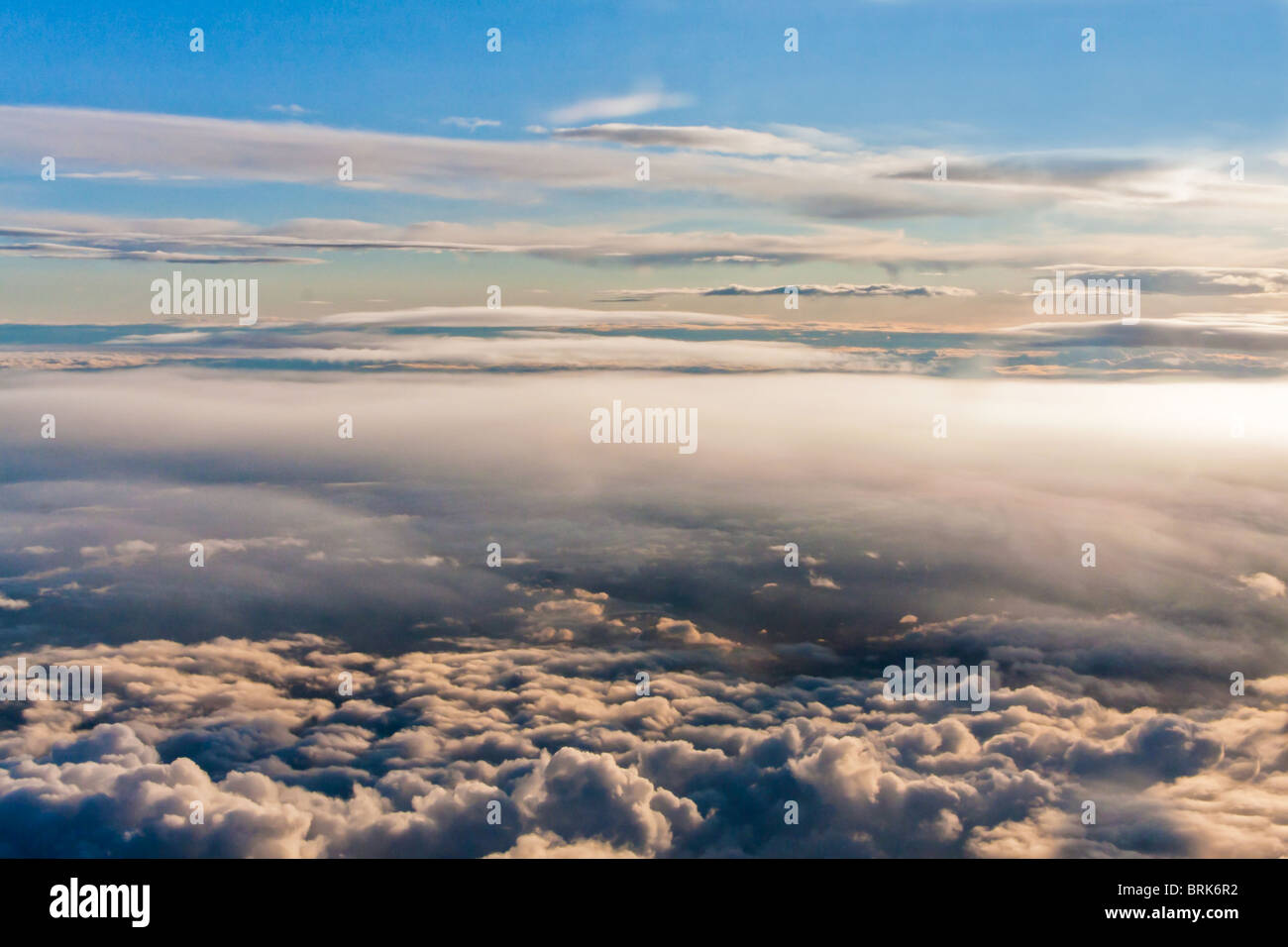 over the clouds, a perfect day - Stock Image