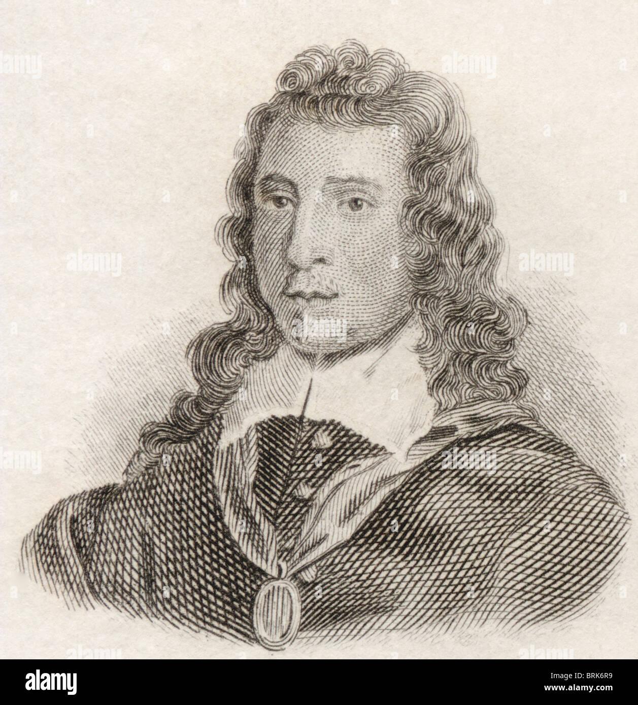 Sir John Denham, 1615 to 1669. English poet and courtier. - Stock Image