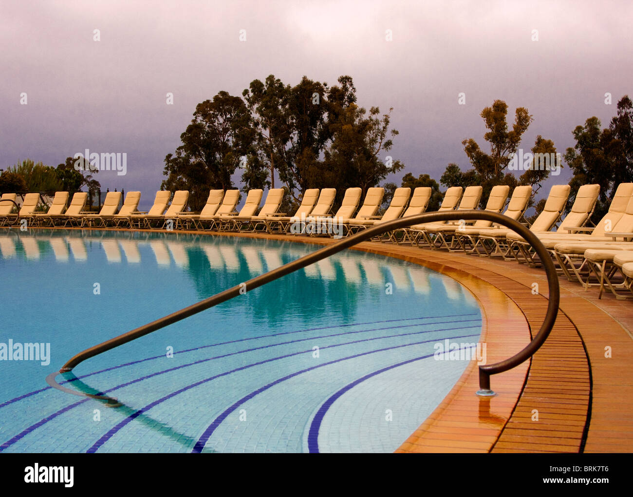 Graphic image of swimming pool at Pelican Hill Resort,  Newport Beach, California - Stock Image