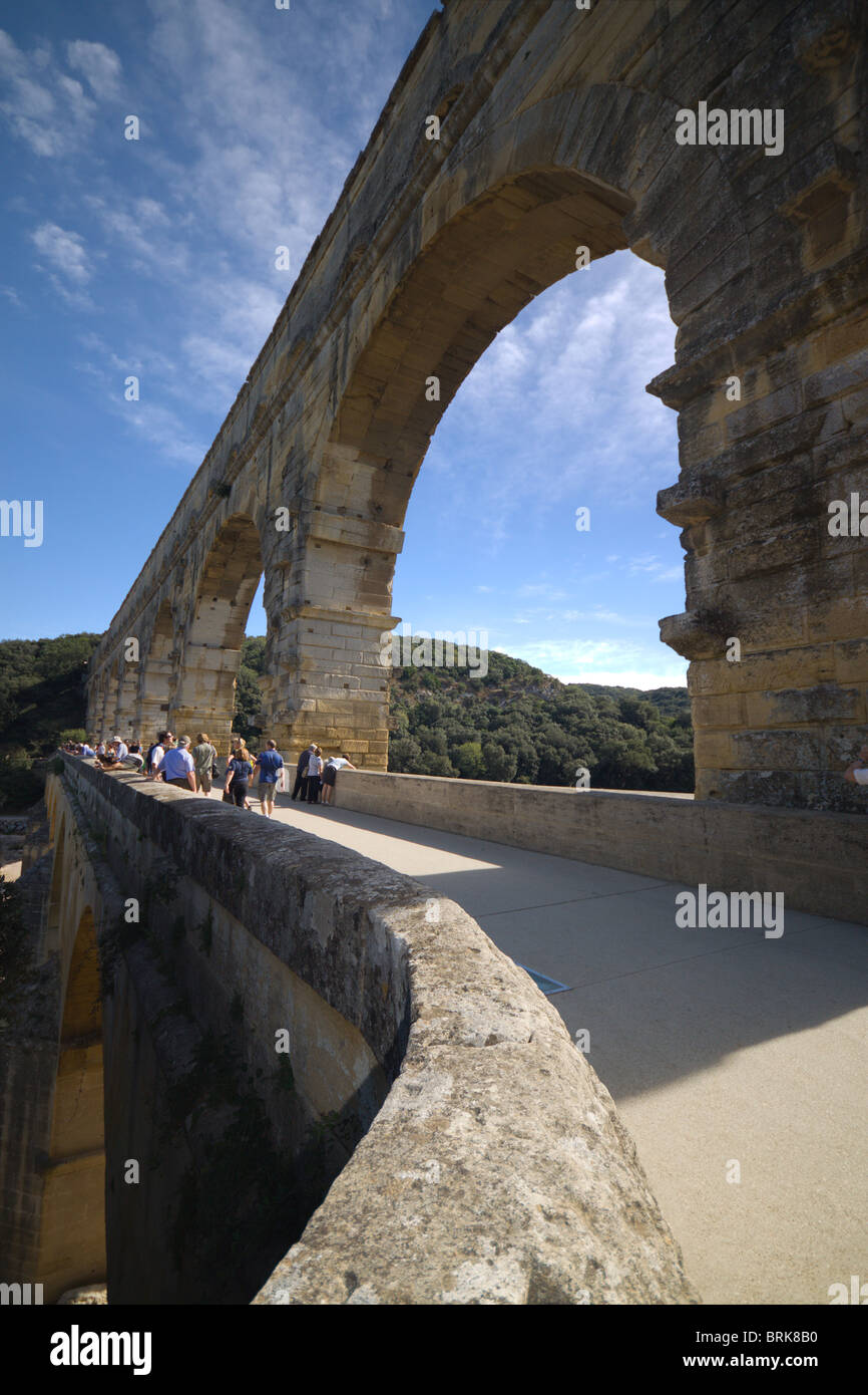 The pont du gard in southern france, the highest and one ... Pont Du Gard Top