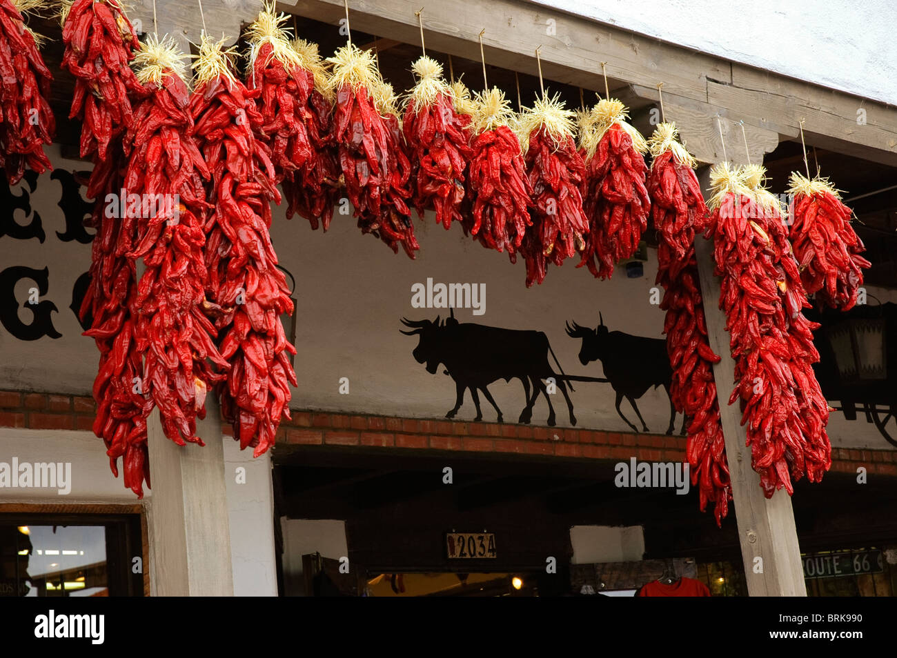 Hanging Chili Pepper Decorations Stock Photos Hanging